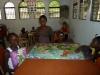 Kétia, Chrislène, Bianka et Garline font un beau puzzle