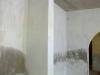 mur avec le carbure, produit que l'on met avant la peinture