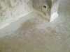 sol après passage du peintre et avant les nettoyage